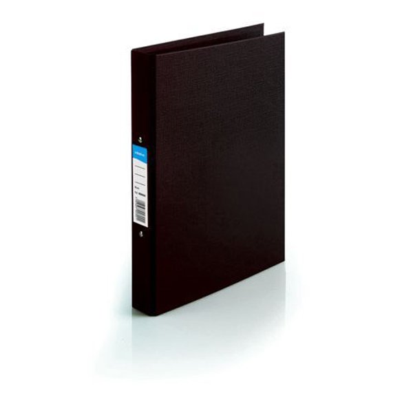Initiative Polypropylene Coated Board 2 Ring Binder 25mm Capacity A4 Black (10 Pack)