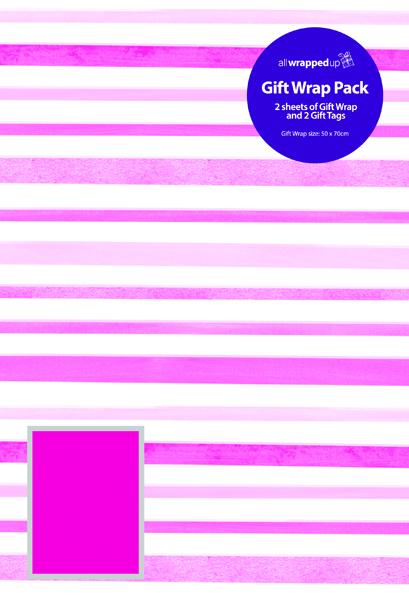 Regent Modern Stripes Giftwrap (12 Pack) F420/F