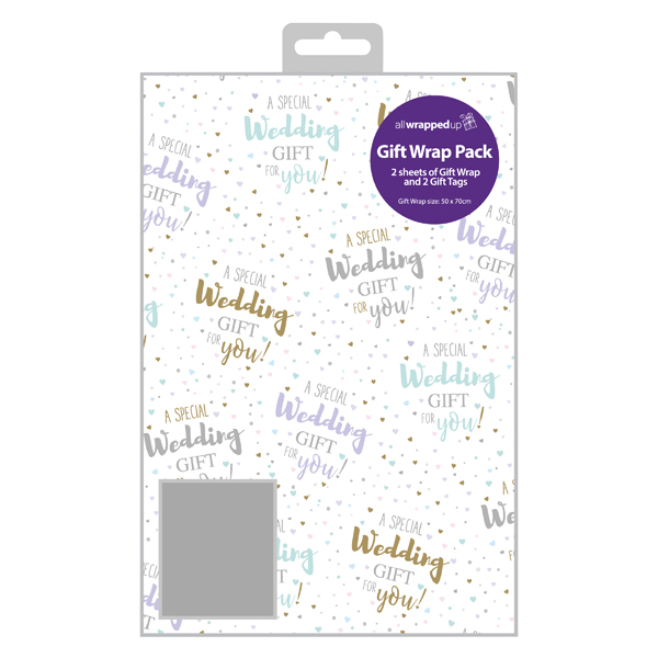 Regent Wedding Gift Wrap and Tag (12 Pack) F364