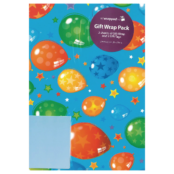Packaged Wrap Blue Ballons (12 Pack) F322