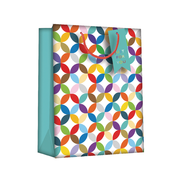 Gift Bags Bright Link Geometric Large (6 Pack) Z730L