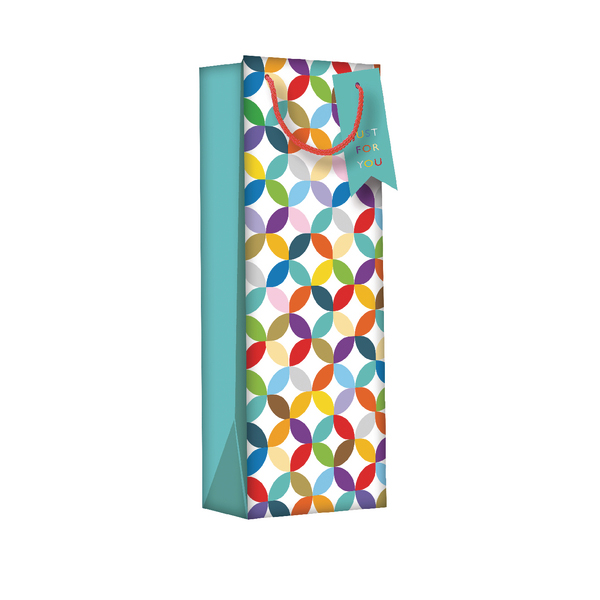 Regent Gift Bags Bright Link Geometric Bottle (6 Pack) Z730B