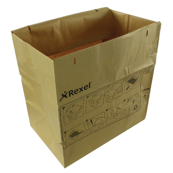 Rexel Brown Recyclable Paper Shredder Bags (50 Pack) 2102248