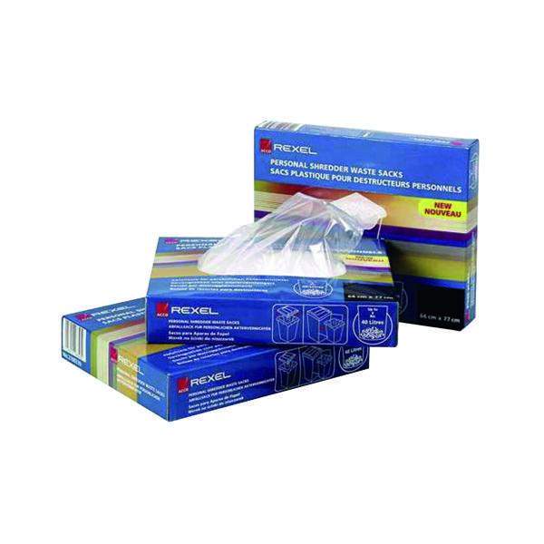 Rexel Plastic AS1000 Shredder Waste Sacks (100 Pack) 40070