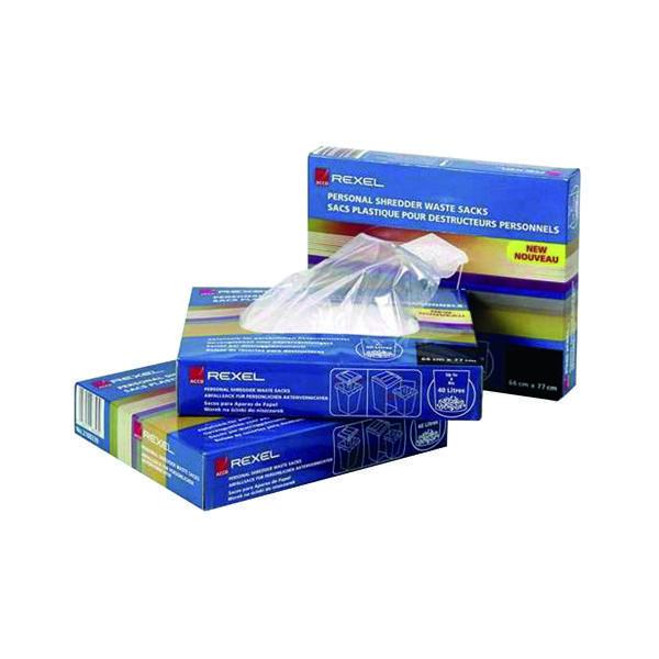 Rexel Plastic AS3000 Shredder Waste Sacks (100 Pack) 40095