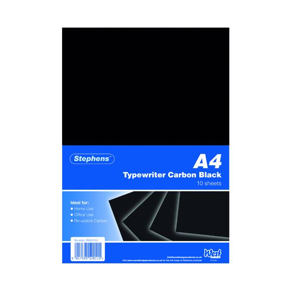 Stephens Black Typewriter Carbon A4 Paper (100 Pack) RS520153