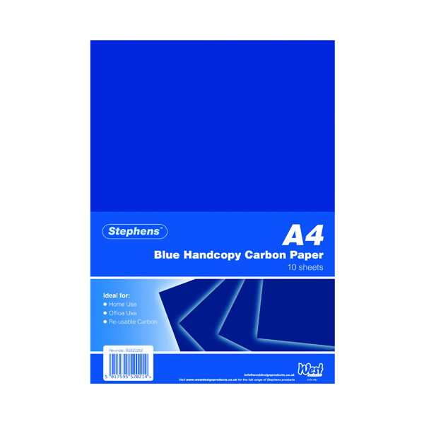 Stephens Blue A4 Hand Carbon Paper (100 Pack) RS520252