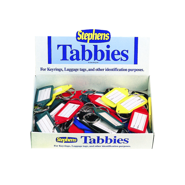 Stephens Assorted Tabbies Keyrings Display (50 Pack) RS521211