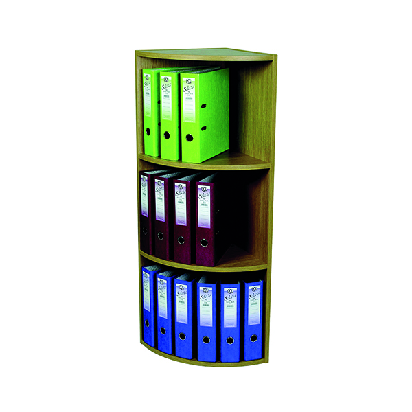 Rotadex Corner Unit 3 Tier Light Oak CU20