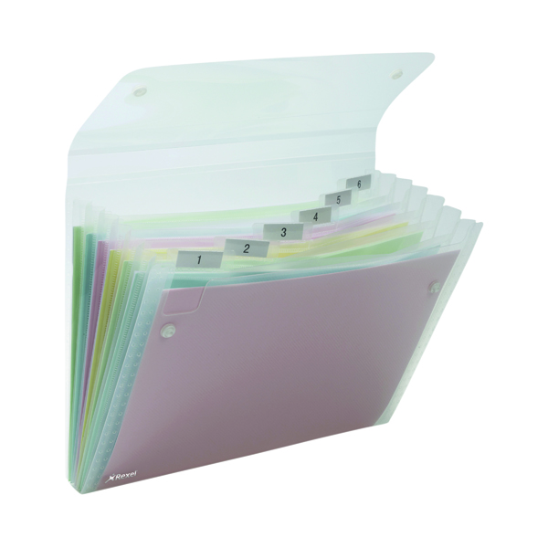 Rexel Ice Expanding Files PP 6 Pocket A4 Clear (10 Pack) 2102033