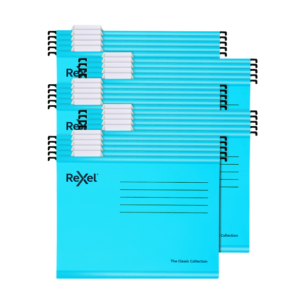 Rexel  Classic Suspension Files A4 Blue (25 Pack) 2115587