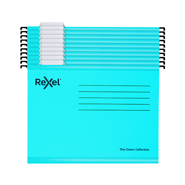 Rexel Classic Suspension Files A4 Blue (10 Pack) 2115595