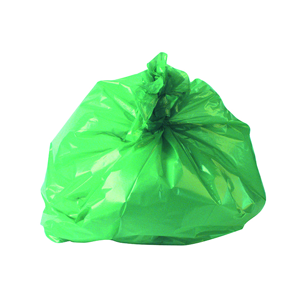 2Work Refuse Sack CHSA 10KG Green (Pack of 200) CS002