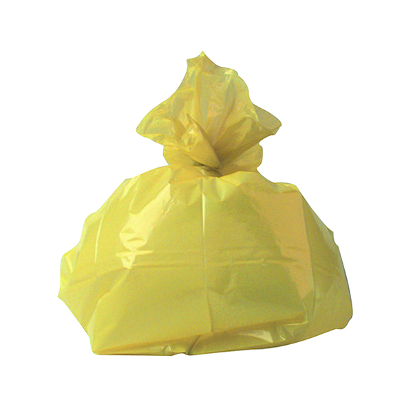 2Work Refuse Sack CHSA 10KG Yellow (Pack of 200) CS001