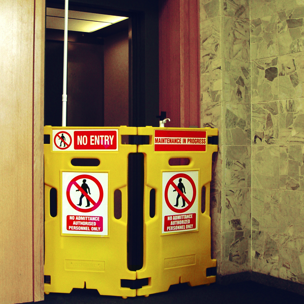 Barrier Elevator Guard Set Of 2 Yellow (2 Pack) 309856