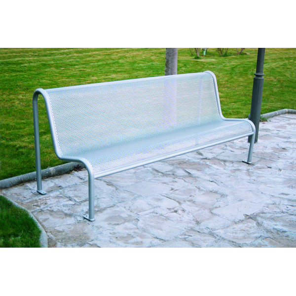 Value Grey Metal Mesh Outdoor Bench Seat 315563