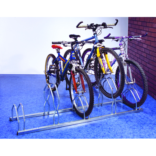 Cycle Rack For 5 Cycles Zinc Plated Grey 320077
