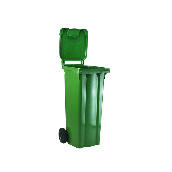2 Wheel Green Refuse Container 120 Litre 331109
