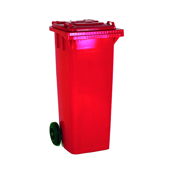 2 Wheel Red Refuse Container 120 Litre 331115