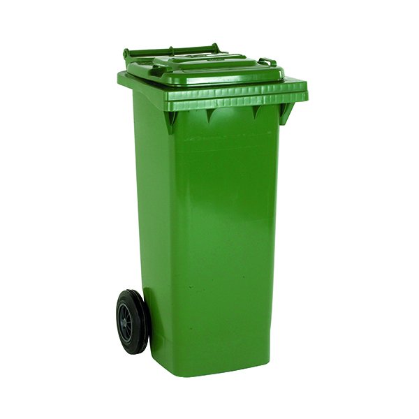 2 Wheel Green Refuse Container 140 Litre 331150