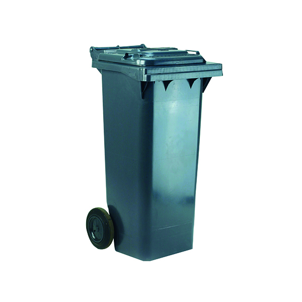 2 Wheel Grey Refuse Container 140 Litre 331151
