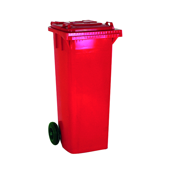 2 Wheel Red Refuse Container 360 Litre 331226