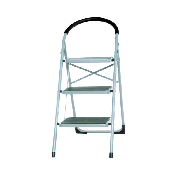 3 Tread White Step Ladder 359294