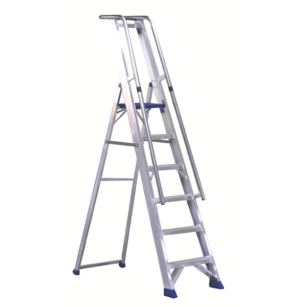 Aluminium 5 Steps Ladder With Platform 377855
