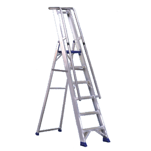 Aluminium 7 Steps Ladder With Platform 377857
