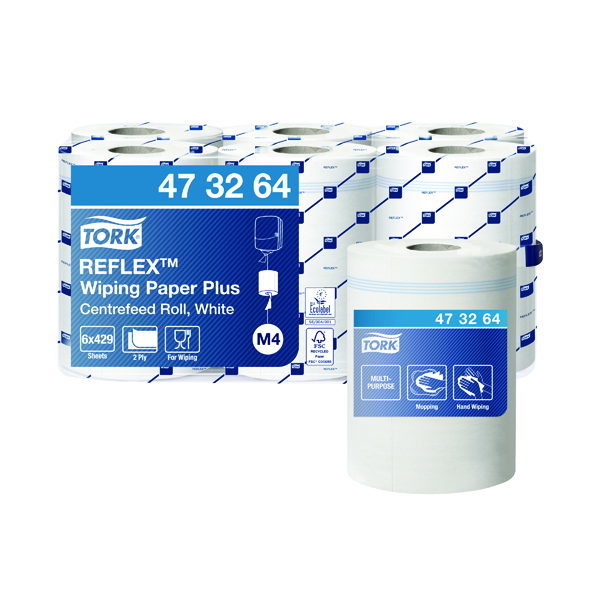 Tork Reflex M4 Centrefeed Roll 2-Ply 150m White (6 Pack) 473264