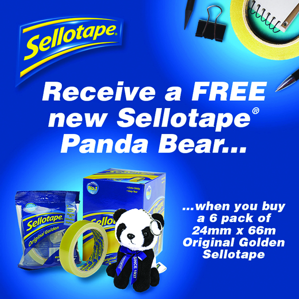 Sellotape Original Golden Tape 24mm x 66m (6 Pack) 2028242