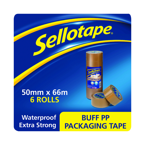 Sellotape Polypropylene Packaging Tape 50mm x 66m Brown (6 Pack) 1445172