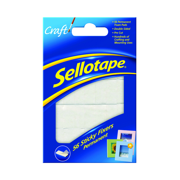 Sellotape Sticky Fixers Permanent 12 x 25mm (56 Pack) 1445423