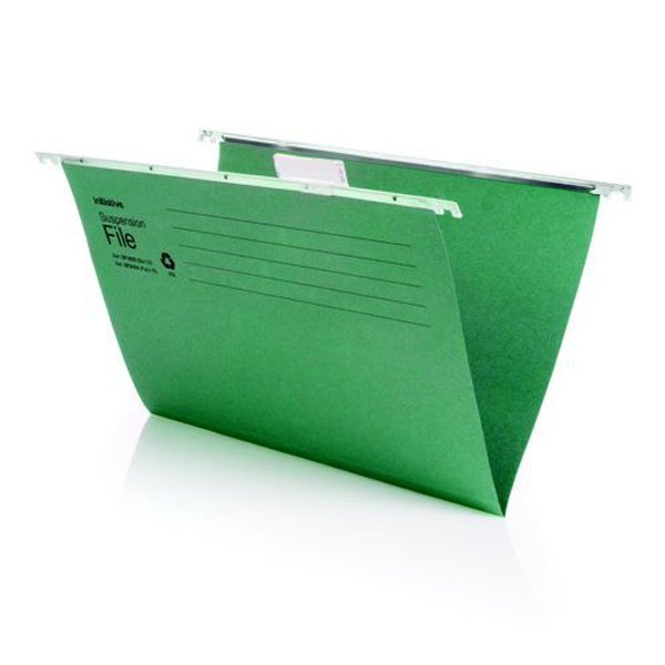 Initiative Suspension File With Tabs and Inserts A4 215gsm 85% Recycled (50 Pack)