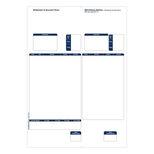 Custom Forms Sage A4 1-Part Laser Sales Ledgers 90gsm (500 Pack) SE85S