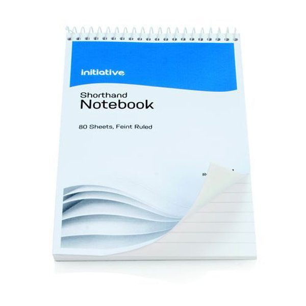 Initiative Shorthand Notebook 160 Pages 203x127mm (8 x 5 Inch) 60gsm (10 Pack)