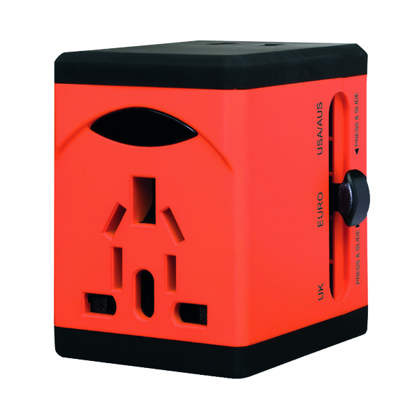 Swordfish VariPlug Univers Orange Travel Adapter 40253