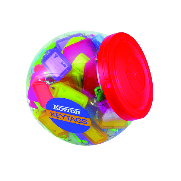 Kevron Plastic Clicktag Key Tag Large Assorted Tub (150 Pack) ID5AC150