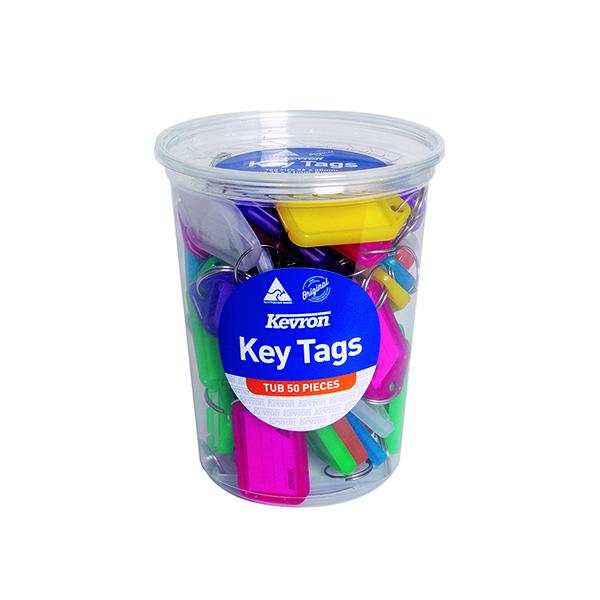 Kevron Standard Key Tags Assorted (50 Pack) ID5TUB50ASST