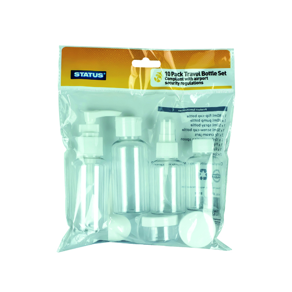 10-Piece Travel Bottle Set (8 Pack) STBS10PCX8