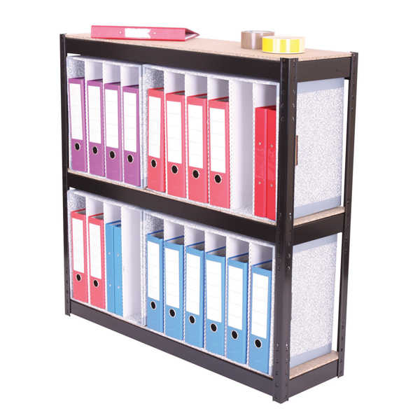 3-Shelf Lever Arch File Unit Black ZZHT3BK102A10630