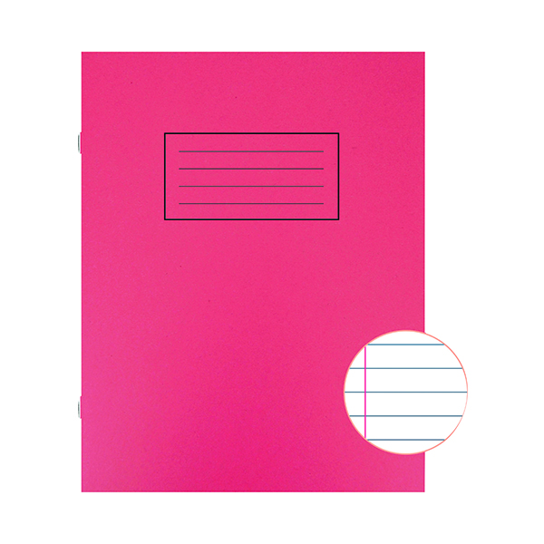 Silvine Exercise Book 229 x 178mm Ruled with Margin Red (10 Pack) EX101