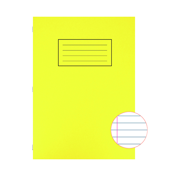 Silvine Exercise Book A4 Ruled with Margin Yellow (10 Pack) EX109