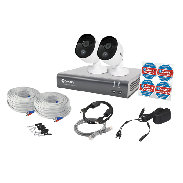 Swann 4 Channel Thermal Sensing 2 Camera Security System SWDVK-445802-UK