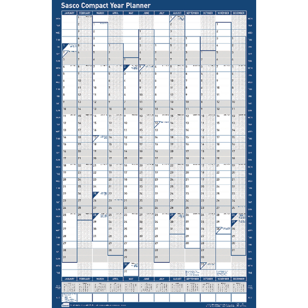 Sasco Compact 2018 Portrait Year Planner 2401865