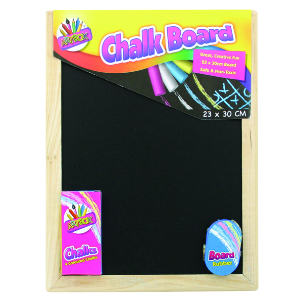 Chalk Board Set with Chalk Board, Chalks and Eraser (12 Pack) 5249