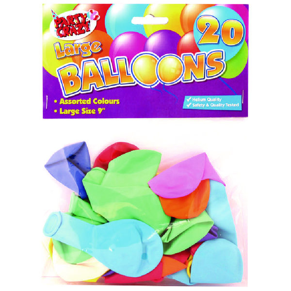 Tallon 9 Inch Large Balloons (20 Pack) 5700