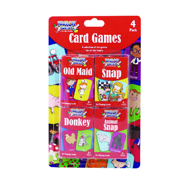 Tallon Set of 4 Card Games for Children (12 Pack) 7023