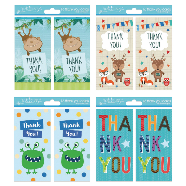 Tallon 4 Design Boy Thank You Cards (192 Pack) 4483