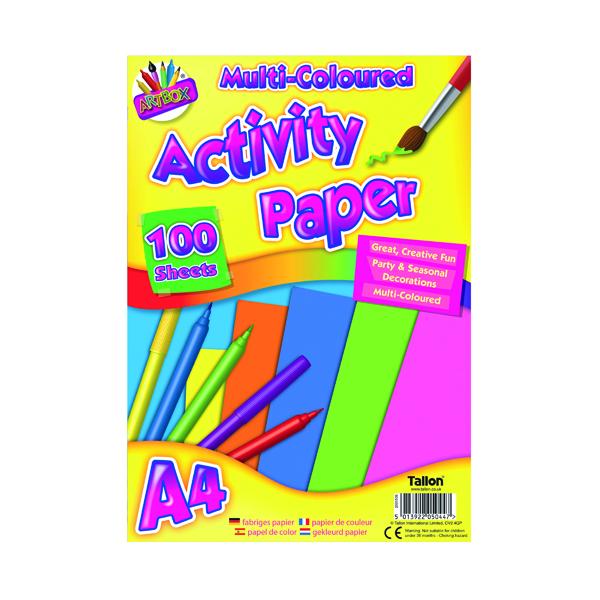 Art Box Activity Paper 100 Sheet A4 Assorted (6 Pack) TAL05044